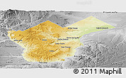 Physical Panoramic Map of Collon Cura, desaturated