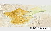 Physical Panoramic Map of Collon Cura, lighten