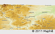 Physical Panoramic Map of Collon Cura