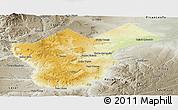 Physical Panoramic Map of Collon Cura, semi-desaturated