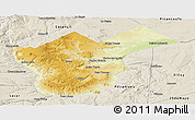 Physical Panoramic Map of Collon Cura, shaded relief outside