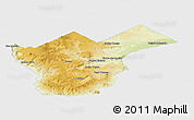 Physical Panoramic Map of Collon Cura, single color outside