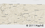 Shaded Relief Panoramic Map of Collon Cura