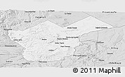Silver Style Panoramic Map of Collon Cura