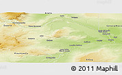 Physical Panoramic Map of Confluencia