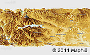 Physical Panoramic Map of Huiliches