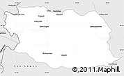 Silver Style Simple Map of Lacar