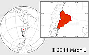 Blank Location Map of Neuquen
