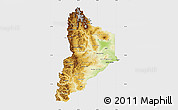 Physical Map of Neuquen, single color outside