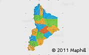 Political Map of Neuquen, single color outside