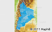 Political Shades Map of Neuquen, physical outside