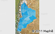 Political Shades Map of Neuquen, satellite outside