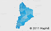 Political Shades Map of Neuquen, single color outside