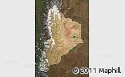 Satellite Map of Neuquen, darken