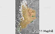 Satellite Map of Neuquen, desaturated