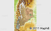 Satellite Map of Neuquen, physical outside