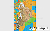 Satellite Map of Neuquen, political outside