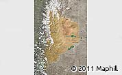 Satellite Map of Neuquen, semi-desaturated