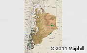 Satellite Map of Neuquen, shaded relief outside