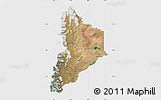 Satellite Map of Neuquen, single color outside