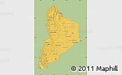 Savanna Style Map of Neuquen, single color outside