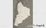 Shaded Relief Map of Neuquen, darken