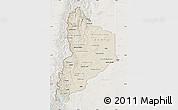 Shaded Relief Map of Neuquen, lighten
