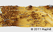 Physical Panoramic Map of Nroquin