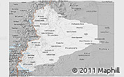 Gray Panoramic Map of Neuquen
