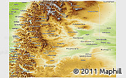 Physical Panoramic Map of Neuquen