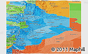 Political Shades Panoramic Map of Neuquen