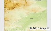 Physical 3D Map of Picun Leufu