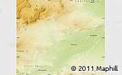 Physical Map of Picun Leufu