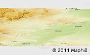 Physical Panoramic Map of Picun Leufu
