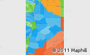 Political Shades Simple Map of Neuquen