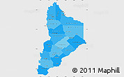 Political Shades Simple Map of Neuquen, single color outside