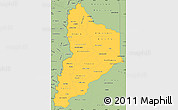 Savanna Style Simple Map of Neuquen
