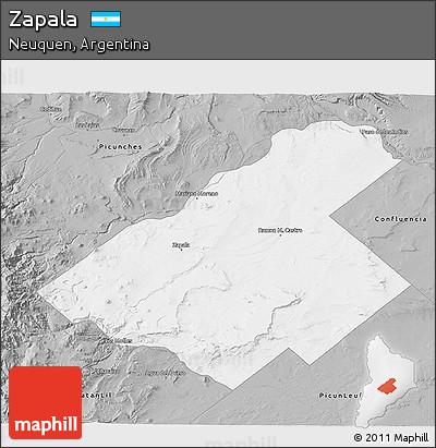 Free Gray D Map Of Zapala - Zapala argentina map