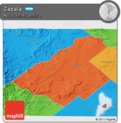 Free Political D Map Of Zapala - Zapala argentina map