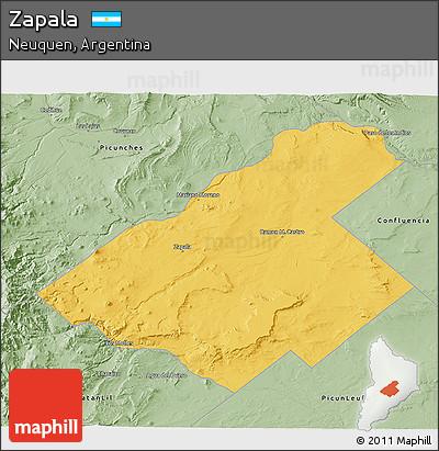 Free Savanna Style D Map Of Zapala - Zapala argentina map