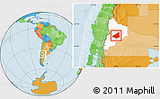 Political Location Map Of Zapala - Zapala argentina map