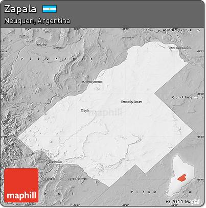 Free Gray Map Of Zapala - Zapala argentina map