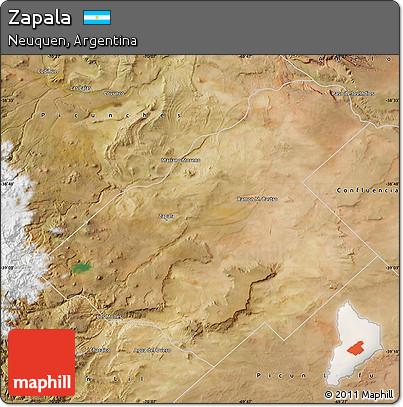 Free Satellite Map Of Zapala - Zapala argentina map