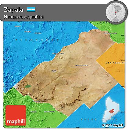 Free Satellite Map Of Zapala Political Outside - Zapala argentina map