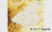 Free Shaded Relief Map Of Zapala Physical Outside - Zapala argentina map