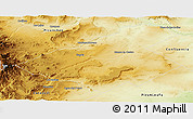 Physical Panoramic Map of Zapala