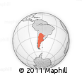 Outline Map of Argentina
