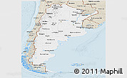 Classic Style Panoramic Map of Argentina