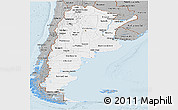 Gray Panoramic Map of Argentina