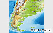 Physical Panoramic Map of Argentina